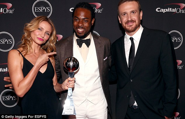 Cameron diaz, richard sherman, jason seigel, espy awards, keith middlebrook pro sports fico 911.
