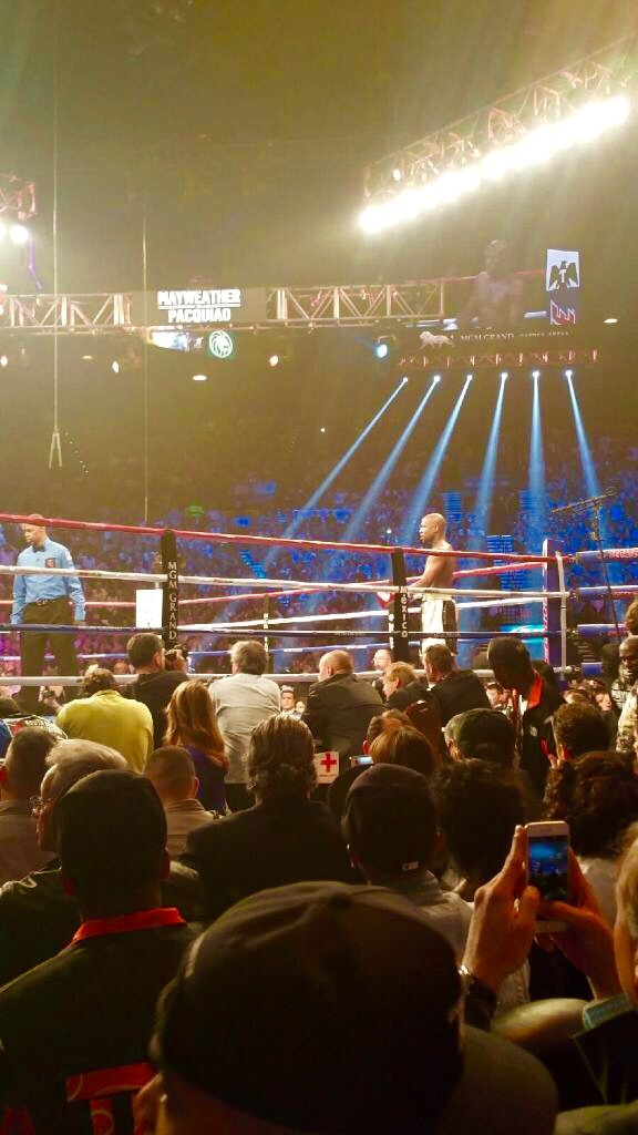 Floyd Mayweather vs Manny Pacquaio from the 6th Row at the MGM Grand, May 2, 2015. The Fight of the Century. keith Middlebrook of Keith Middlebrook Pro Sorts