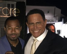 Keith Middlebrook and Shane Mosley attend Dr. Michael Obeng charity event for RESTORE Worldwide.