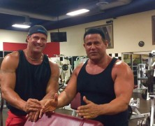 "40/40 Jose Canseco and the ""Real Iron Man"" in an Episode of ""Gym Talk""."