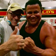 """Jean Claude Van Damme, The """"Muscles from Brussels"""" and the """"Real Iron Man"""", Gym Talk, Keith Middlebrook."""