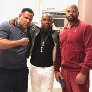"Keith Middlebrook, Floyd Mayweather & S at the ""Black Panther Penthouse"" in LA."
