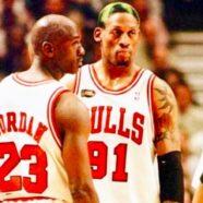 Michael Jordan, Dennis Rodman, Heroes Legends & Icons.